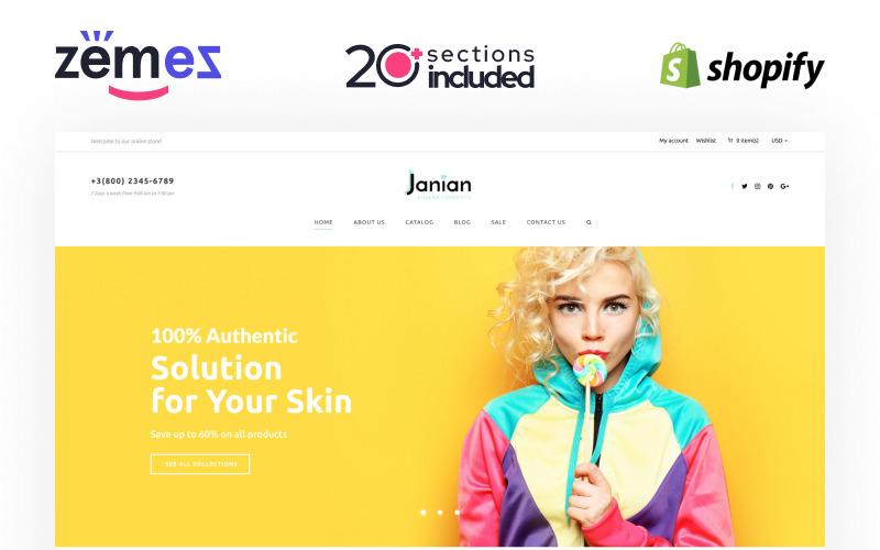Janian - Tema de Shopify para la tienda online de cosméticos coreanos