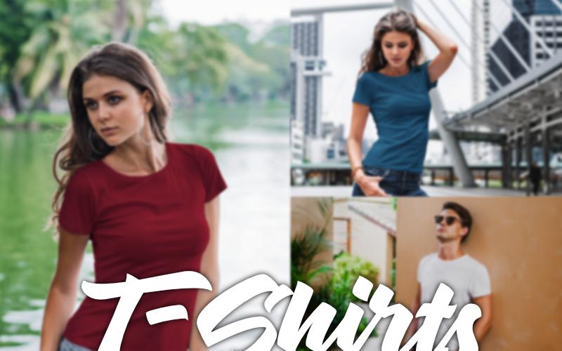 Набор из более чем 100 премиальных мокапов - Дизайн футболки