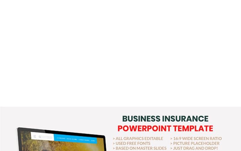 Biztosítás - üzleti tanácsadó PowerPoint sablon