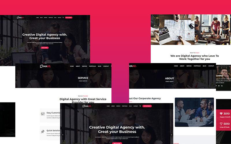 Maxz - корпоративная адаптивная тема WordPress