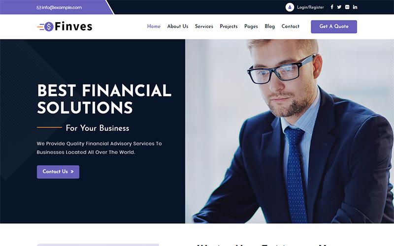 Finves - Financial Advisor Responsive HTML Website Template