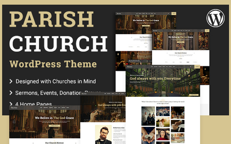 Församling   WordPress-tema för kyrkan och templet