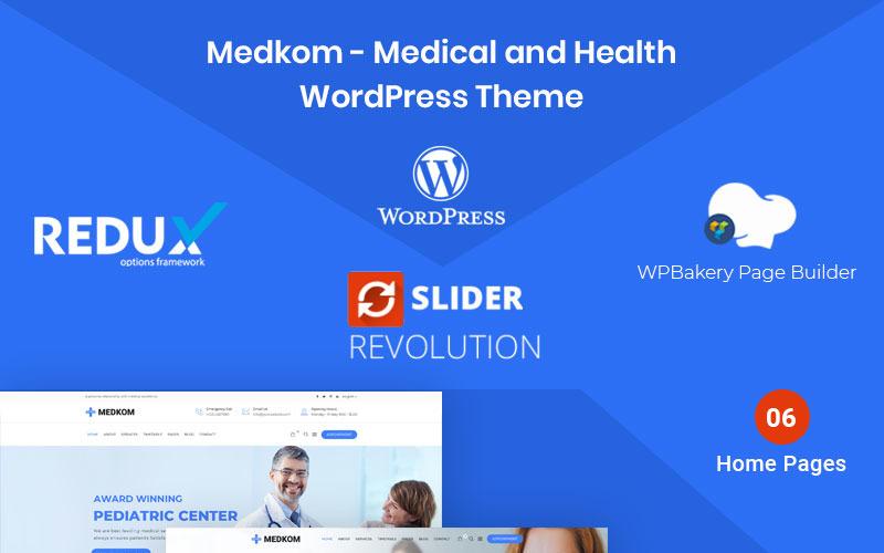 Medkom - тема WordPress о медицине и здоровье