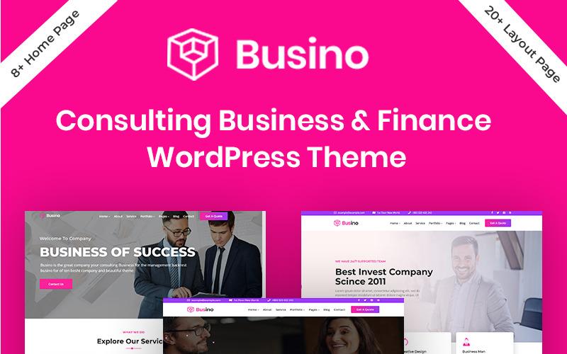 Busino - Šablona WordPressu pro podnikové poradenství a finance