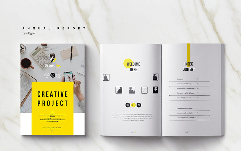 Company Report - Corporate Identity Template