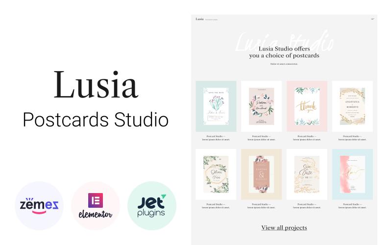 Lusia - Card Design Website WordPress Theme