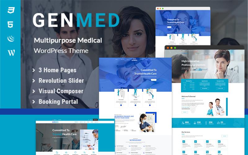 Genmed |多功能医疗WordPress主题