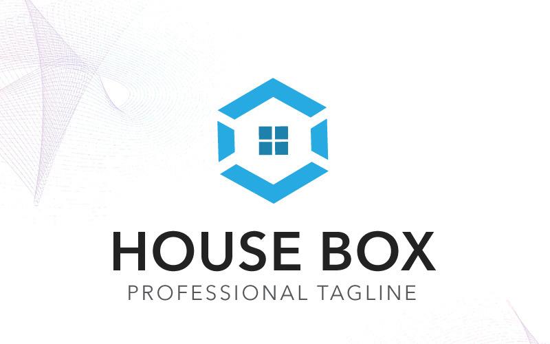 Шаблон логотипа дом коробки