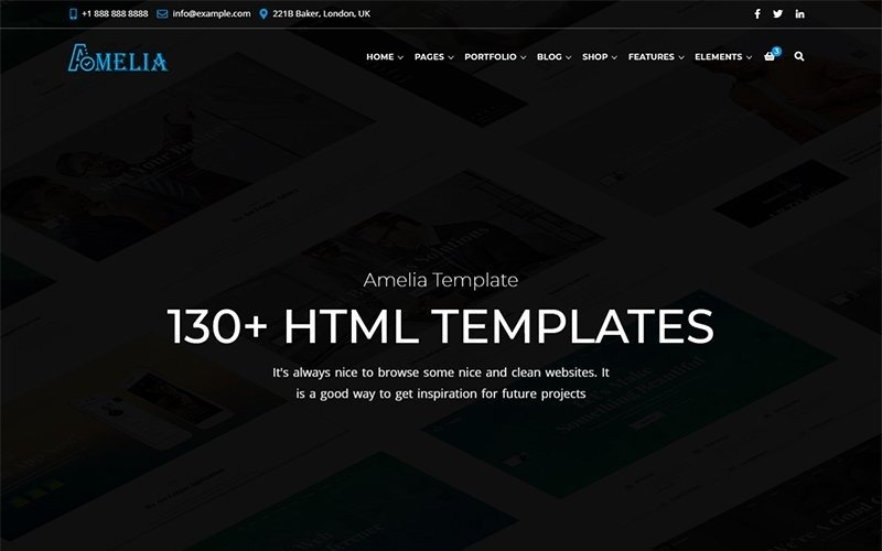 Amelia - All in One Business Website Template