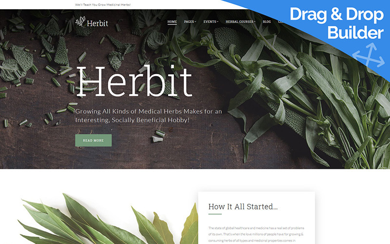 Herbit - Medicinal Herbs Moto CMS 3 Template