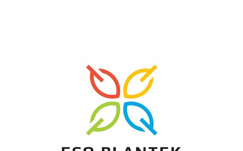 Шаблон логотипа Эко завод