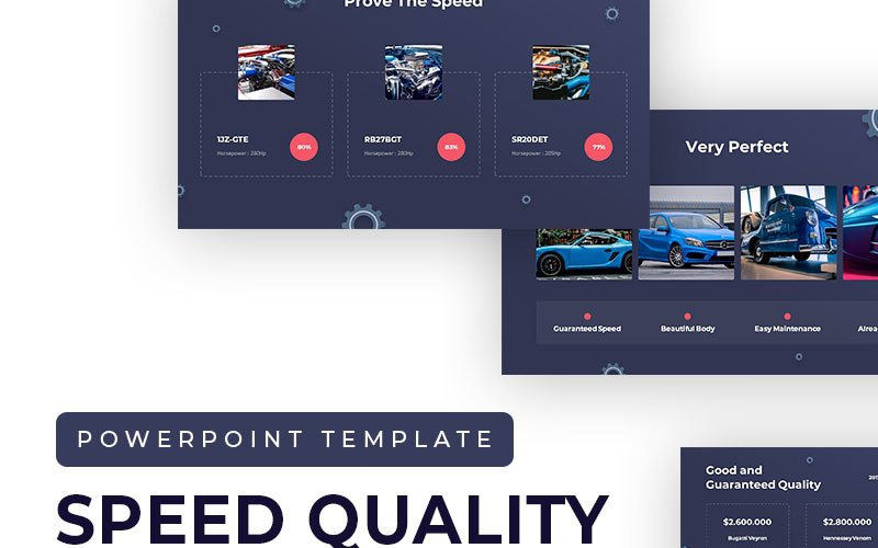 Speed Quality Presentation PowerPoint Template