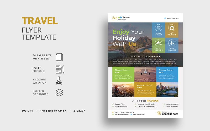 Travel Flyer - Corporate Identity Template