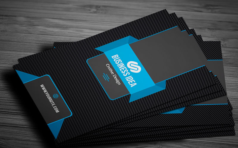 04 Color Black Business card - Шаблон фирменного стиля