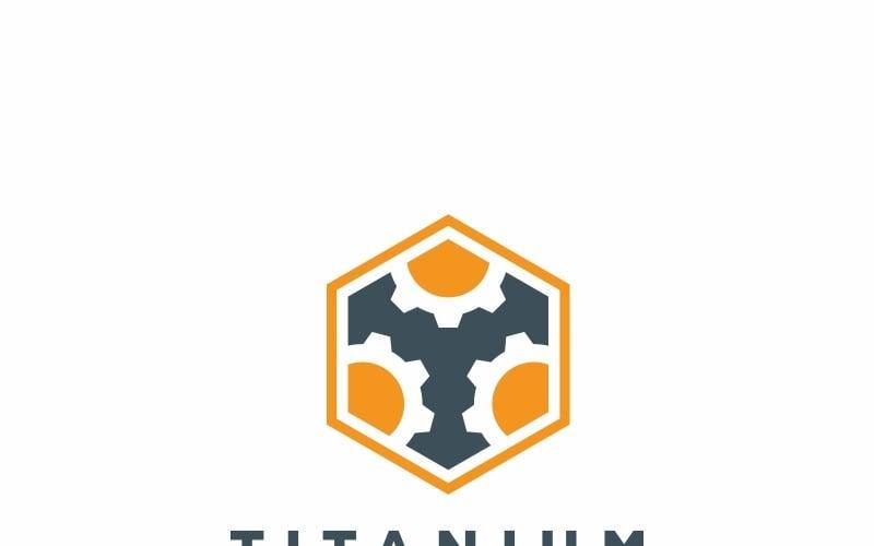 Шаблон логотипа шестигранные шестерни