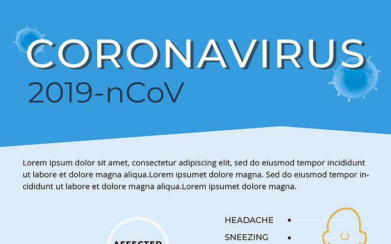 Bezpłatna ulotka dotycząca zapobiegania koronawirusowi - szablon tożsamości korporacyjnej