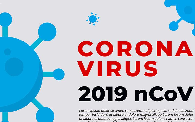 Bezpłatna ulotka z ostrzeżeniem o koronawirusie - szablon tożsamości korporacyjnej
