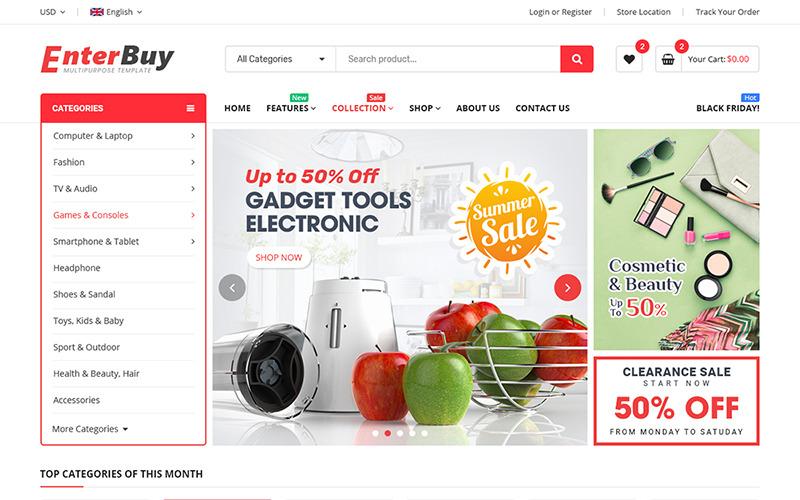 EnterBuy - Premium Responsive BigCommerce Theme