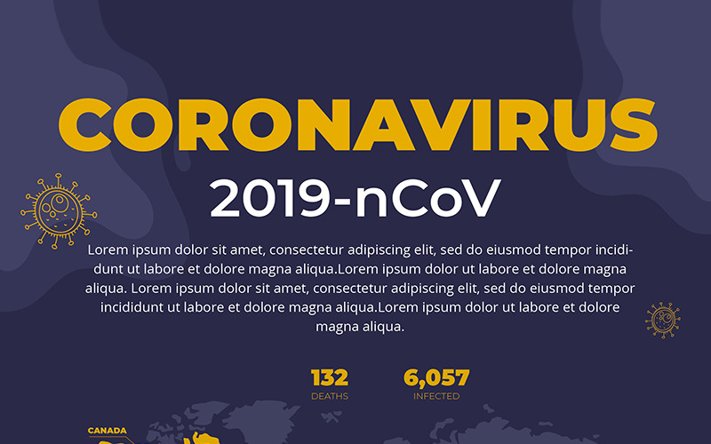 Флаер кампании Free Stop Coronavirus - шаблон фирменного стиля