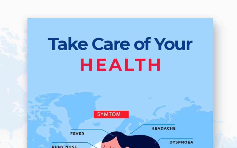Free Stop Coronavirus Paketi Sosyal Medya Şablonu