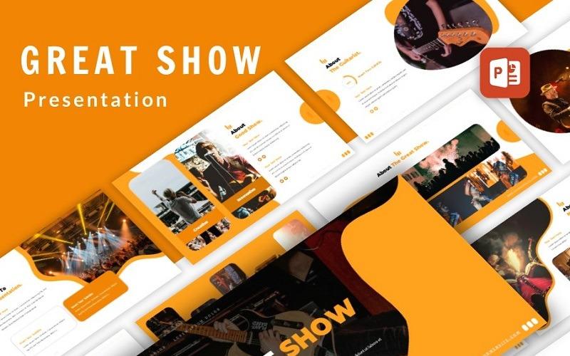 Презентация организатора мероприятий Great Show PowerPoint