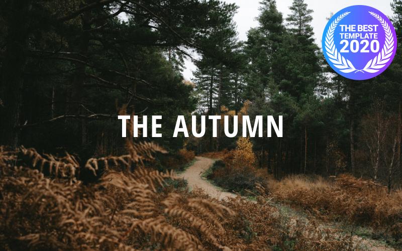 Jesień - portfolio kreatywne   Responsywny szablon Drupala