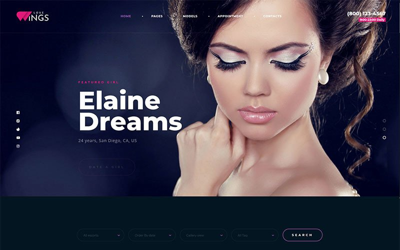 Love Wings Relations and Dating WordPress Theme