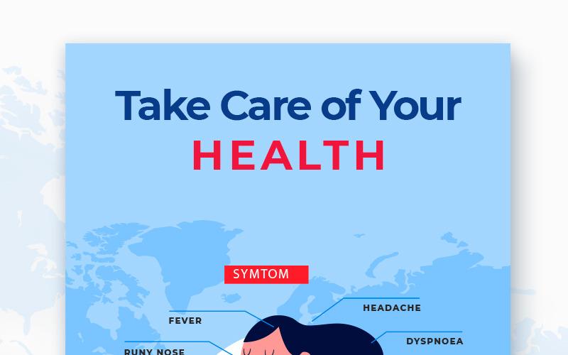 Modelo de mídia social do pacote Free Stop Coronavirus
