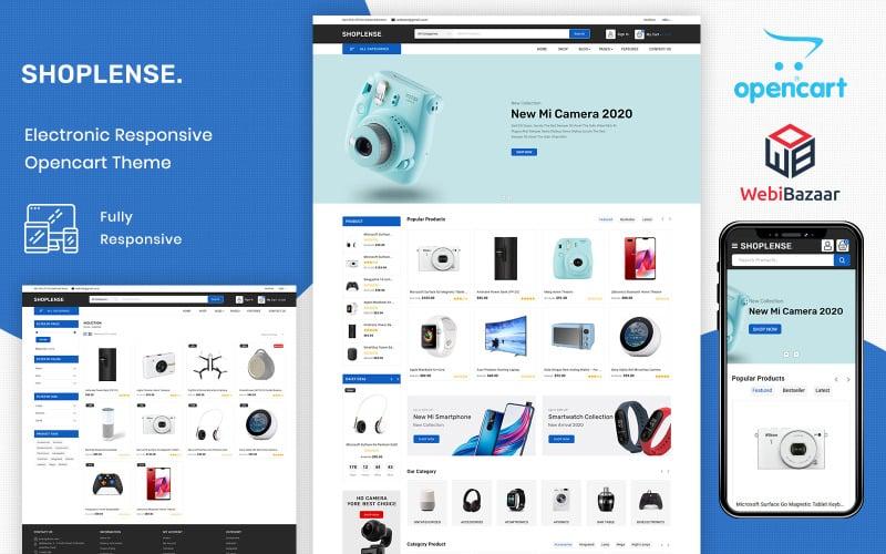 Shoplense - Premium Electronics Store OpenCart Template