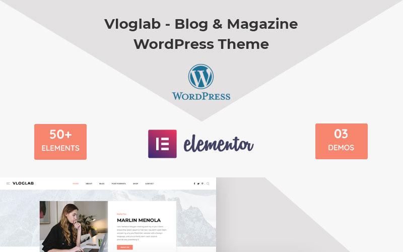 Vloglab - тема WordPress для блогов и журналов
