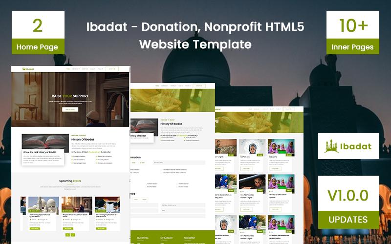 Ibadat - Donation, Nonprofit HTML5 Website Template