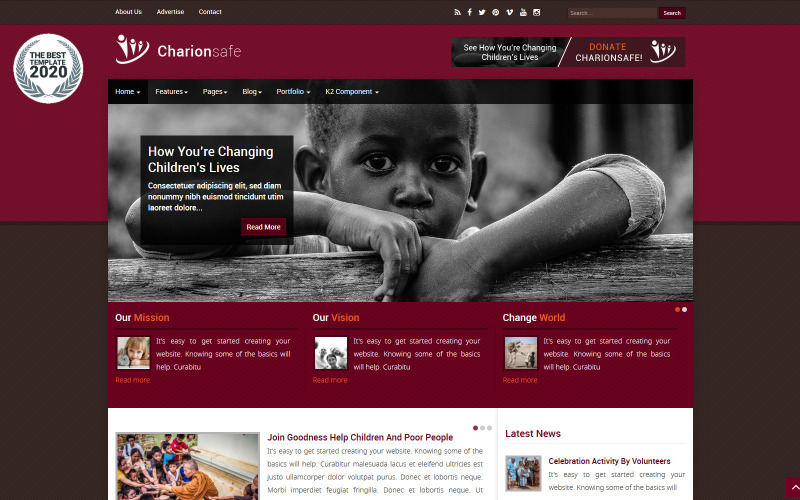Charionsafe Charity Joomla Template