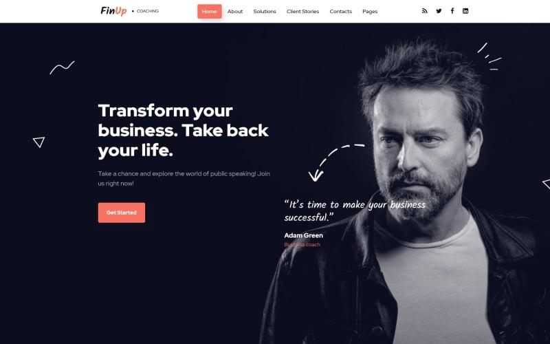 Business Coach Website Design For Coaching Agencies Templatemonster