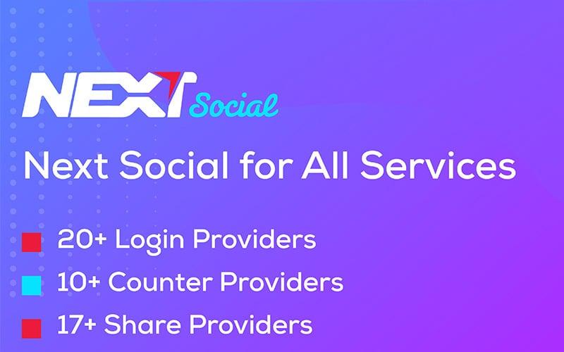 Social Login / Share / Counter - Next Social WordPress Plugin