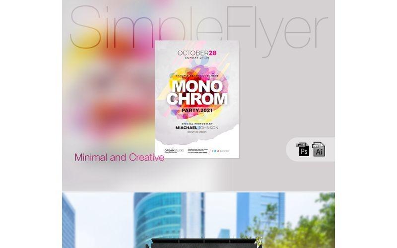 Cartel / folleto de fiesta simple creativo - Plantilla de identidad corporativa