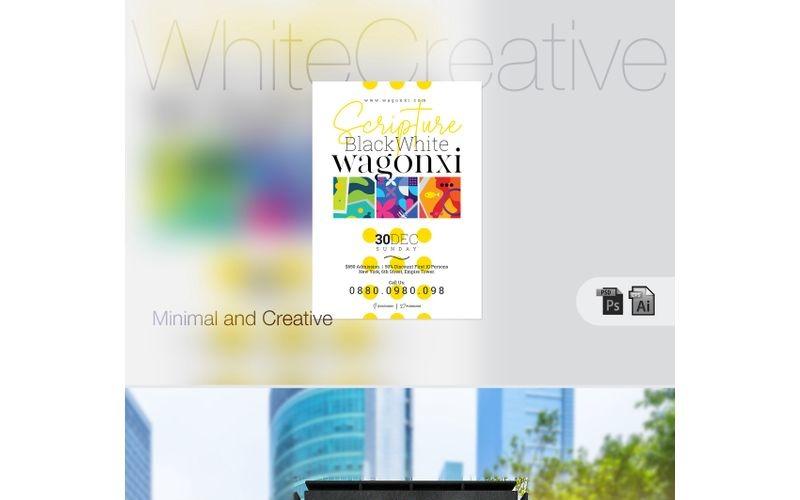 Cartel de evento creativo blanco - Plantilla de identidad corporativa