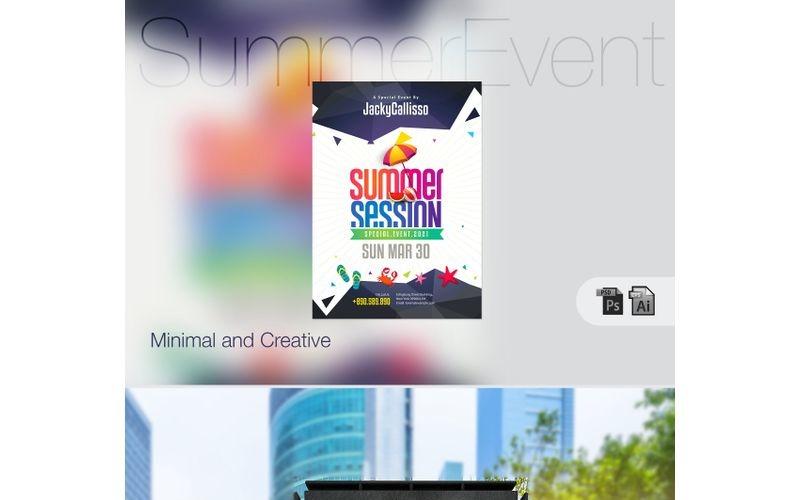 Cartel de fiesta y evento de verano - Plantilla de identidad corporativa
