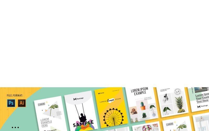 10 carteles mínimos - Plantilla de identidad corporativa