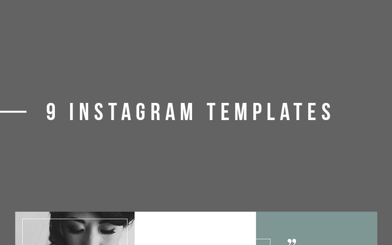 Diseño moderno de plantillas de Instagram para redes sociales