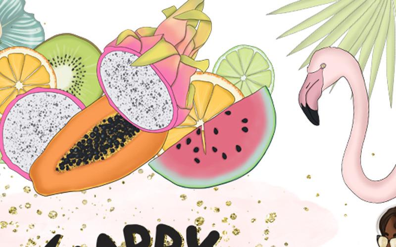 Happy Vacation Summer Design Kit - Ilustración