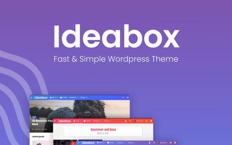 Ideabox - Tema de WordPress para blogs y revistas