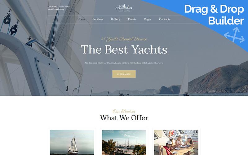 Nautilus - Plantilla Yachting Moto CMS 3