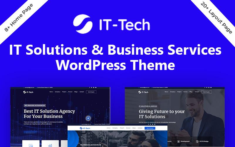 Thème WordPress pour solutions informatiques et services aux entreprises