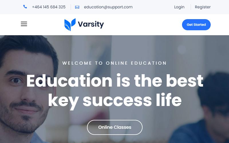 Varsity - Educational Bootstrap Website Template