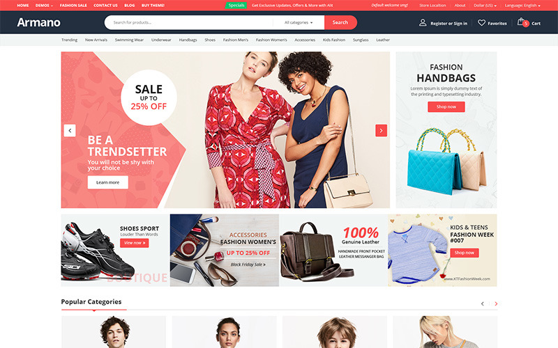 Armano - Tema de WooCommerce multipropósito