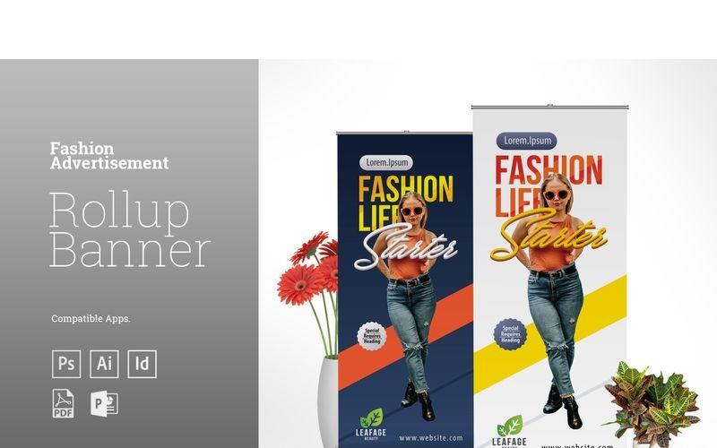 Fashion Rollup Banner - Шаблон фирменного стиля