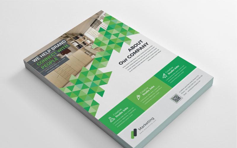Folleto de color verde - Plantilla de identidad corporativa