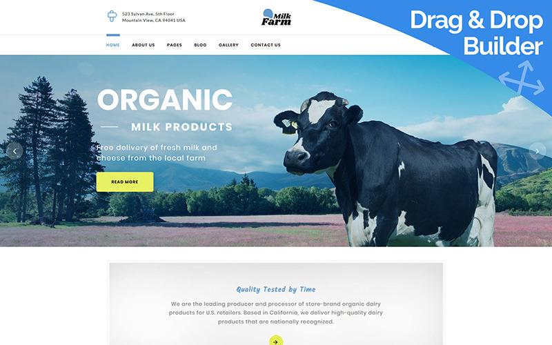 Plantilla Dairy Farm Moto CMS 3