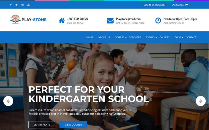 Playstone - Óvoda és iskola WordPress téma