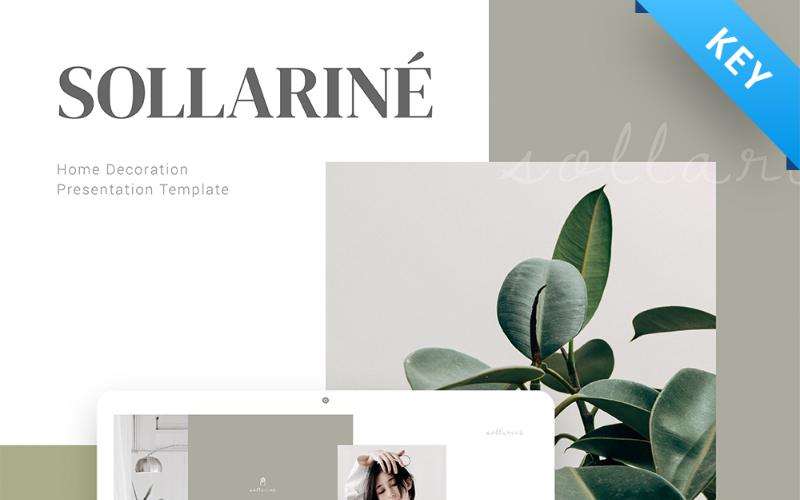 Presentación de decoración del hogar de Sollarine - Plantilla de Keynote